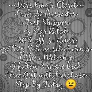 Welcome to Miss King's Closet!